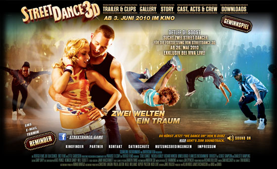 Official Online Campaign Of Streetdance 3d Gsdh