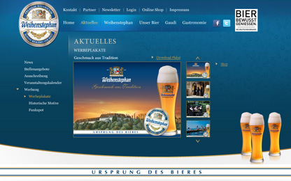 Extravagant Flash site for Weihenstephan.