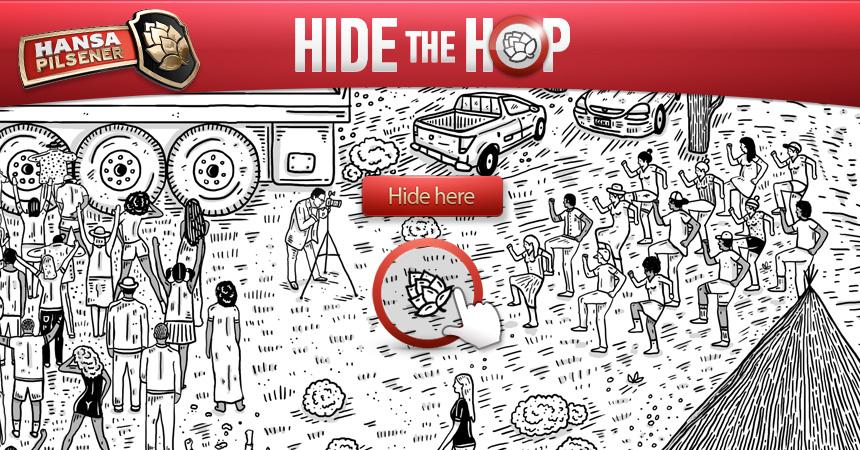 Unser Online-Game für Hansa Pilsener: Hide the Hop.
