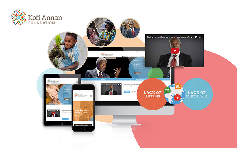 Website der Kofi Annan Foundation